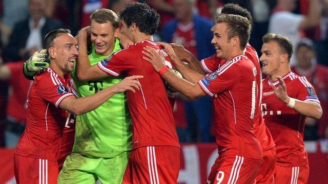 Die Bayern haben zum ersten Mal in ihrer Klubgeschichte den Supercup gewonnen.