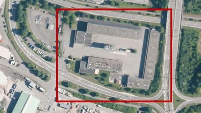 Luftaufnahme des Geländes