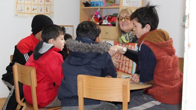 Unterricht im Gemeinschaftszentrum.