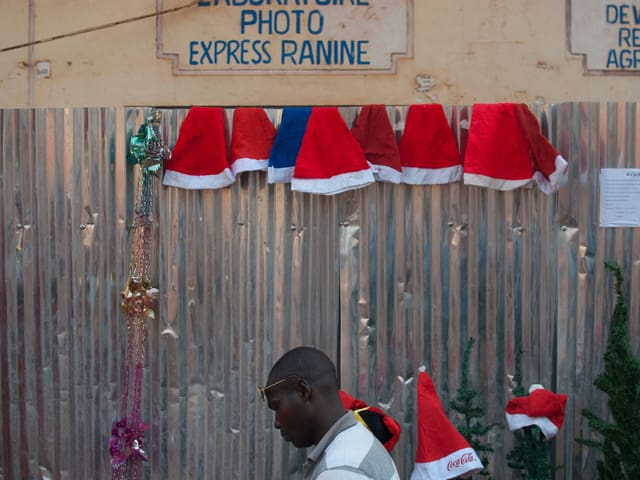 Verkauf von Weihnachtsmützen