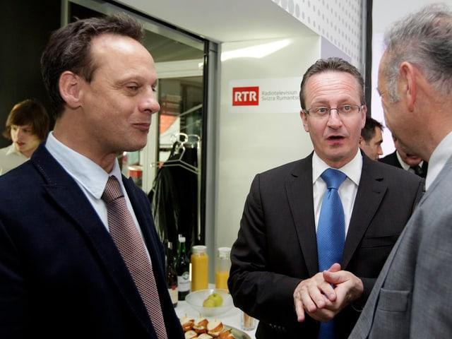 Stefan Engler (CVP) und Martin Schmid (FDP)