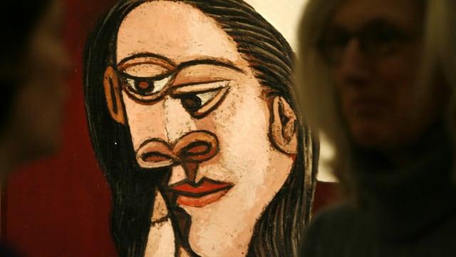 Abstraktes Portrait-Bildniss einer Frau