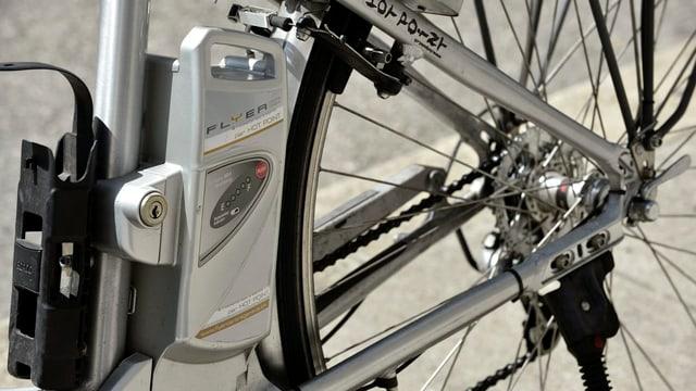 Detailaufnahme eines E-Bike-Akku