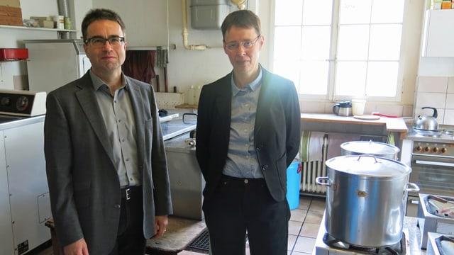 Claus Detreköy vom Kanton und Yvonne Brütsch von der Berner Behindertenkonferenz