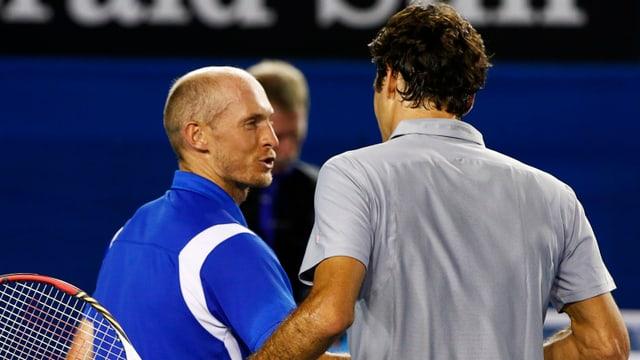 Roger Federer und Nikolai Dawidenko treffen zum bereits 21. Mal aufeinander.