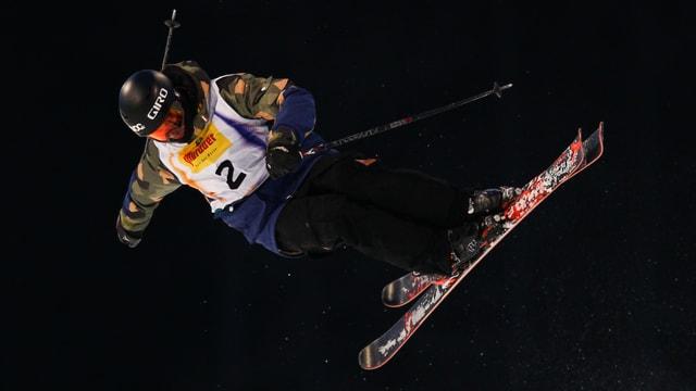 Yannic Lerjen in der Halfpipe-Qualifikation.
