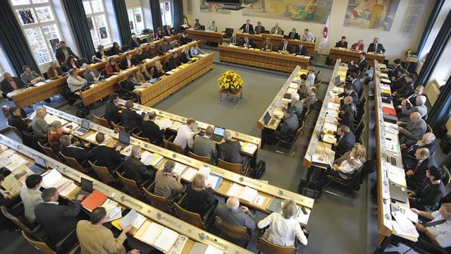 Blick in den Landratssaal in Liestal.