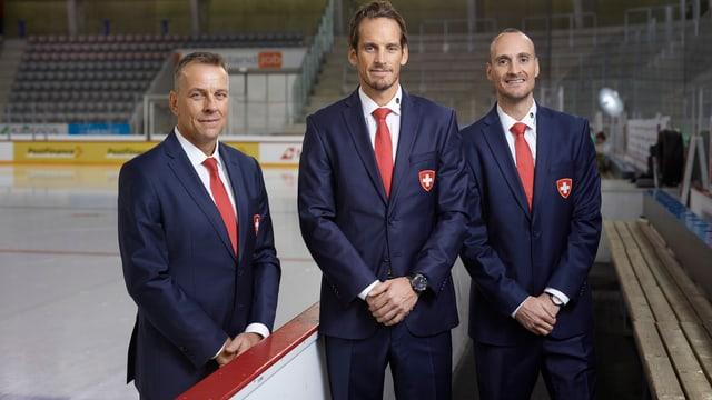 Tommy Albelin, Patrick Fischer und Christian Wohlwend.