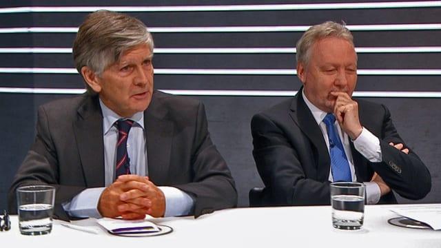 Walter Kälin und Ansgar Gmür am Expertentisch.