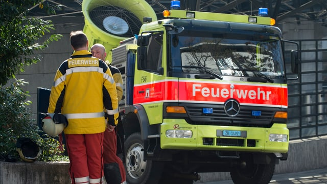 Feuerwehr-Lastwagen der Stadt Zürich