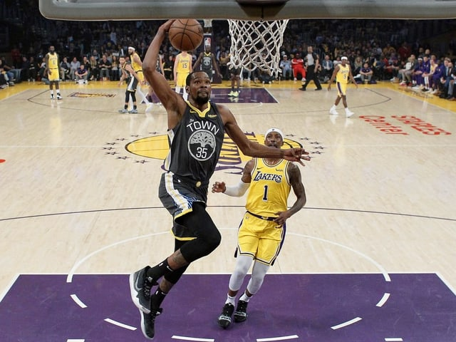 Die Warriors konnten die Liga in den letzten Jahren dominieren und wiesen die Superstars Kevin Durant (Bild) und Kevin Durant in ihren Reihen.