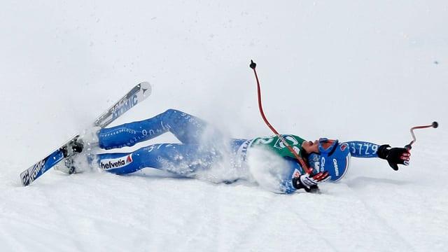 Lara Gut nach ihrem 3. Platz in St. Moritz 2008.