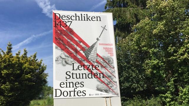 Plakat zum Dorf Deschliken.