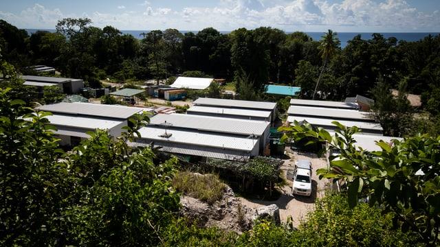 Blick über Camp in Nauru.