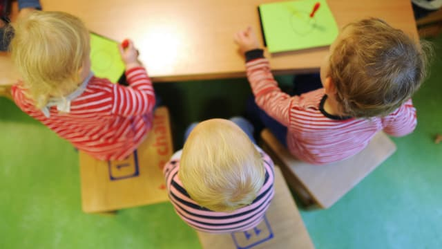 Kinder in der Kinderkrippe