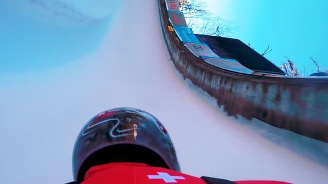 Video «Marina im Eiskanal: Speedrekord mit dem Skeleton» abspielen