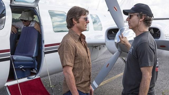Der Regisseur Doug Liman (rechts) und sein Star Tom Cruise.