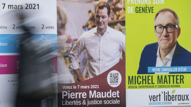 Pierre Maudet auf Wahlplakat