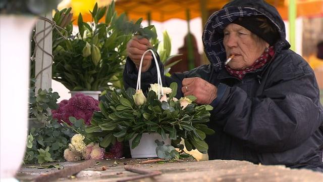 Marktfrau aus Kroatien