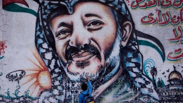 Wandgemälde von Arafat