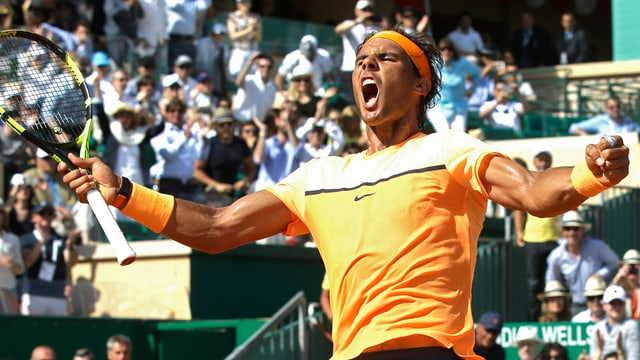 Il giugader da tennis spagnol Rafael Nadal suenter sia victoria dal turnier da tennis a Monte Carlo