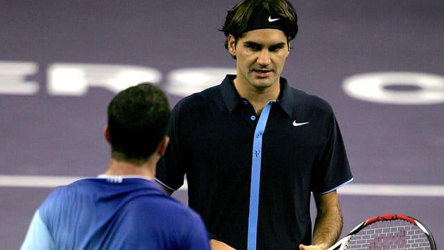 Stepanek und Federer