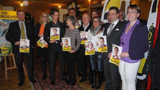 Kandidaten im Gasthof Ochsen, Lupfig