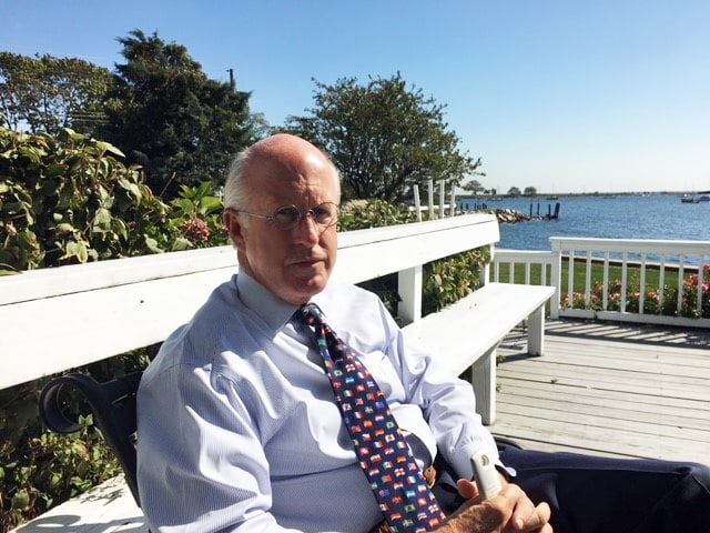 David Walker vor dem Heim in Bridgeport am Long Island Sound in Connecticut (CT).