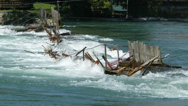 Das Nadelwehr wurde beim Hochwasser 2005 zerstört.