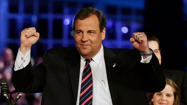 Republikaner Chris Christie in Siegespose