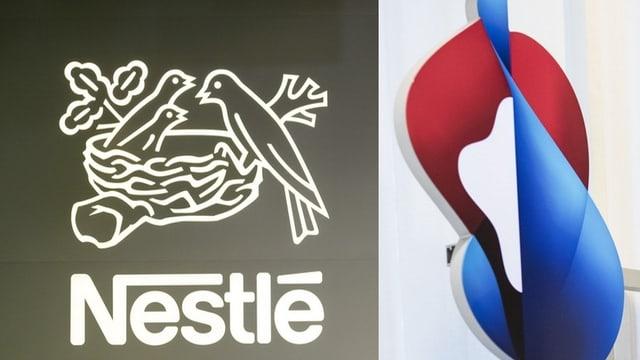 Logos da Swisscom e Nestlé