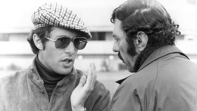 William Friedkin (l.) und William Peter Blatty 1973 bei den Dreharbeiten zu «Der Exorzist».