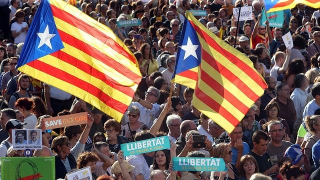 Demonstraziuns a Barcelona