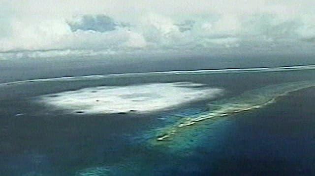 In test nuclear sutterran che la Frantscha ha fatg il 1995 en l'Atoll da Mururoa, Polinesia Franzosa.
