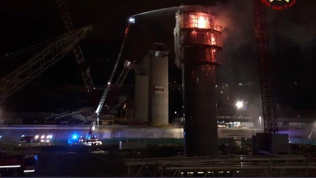 Die Brandursache an der Nachfolge-Brücke in Genua ist noch unklar.