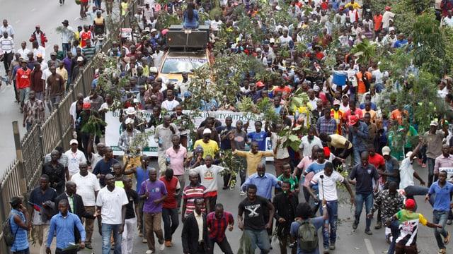 Demonstrationen in Kenia