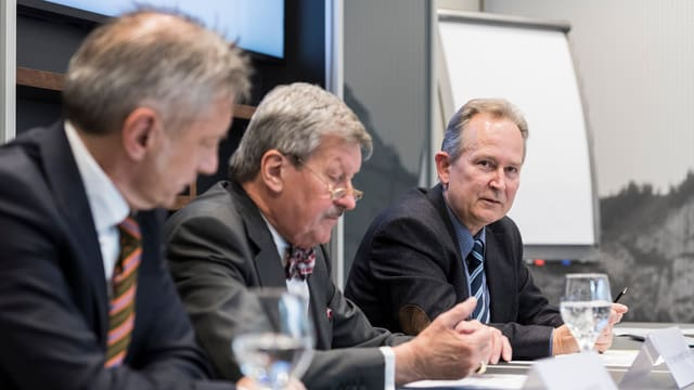 Jann Jenatsch, Hans Heinrich Coninx, Markus Schwab.