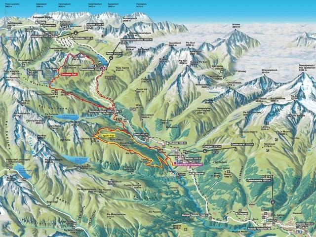 ruta dal Rheinquelle Trail