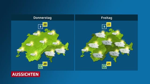 Sonniges Wetter bis Donnerstagnachmittag