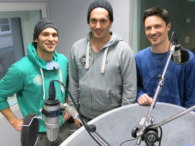 Die Starbugs im Radiostudio