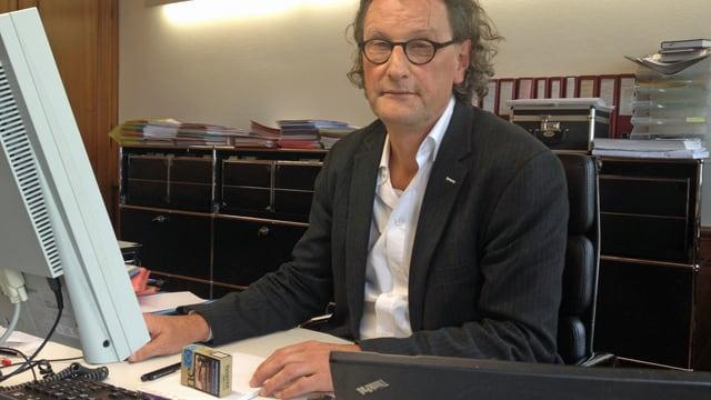 Geri Müller im Büro