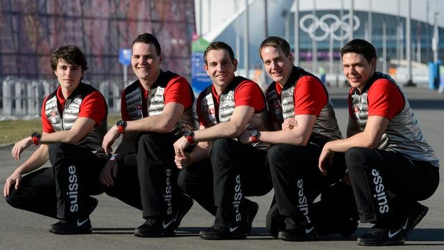 Sven Michel (Mitte) und sein Team.