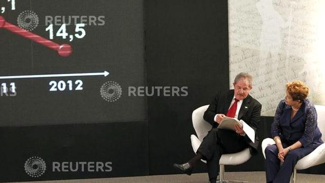 Lula und Rousseff sitzend.