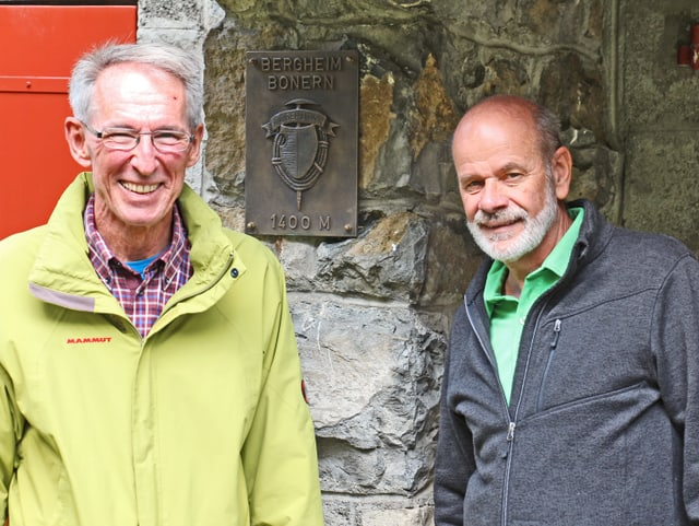 Robert Stocker, Präsident des Alpenclubs Gerliswil und Beni Spichtig, Berghauschef des Berghauses Bonern.