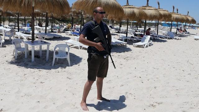 Polizist am Strand