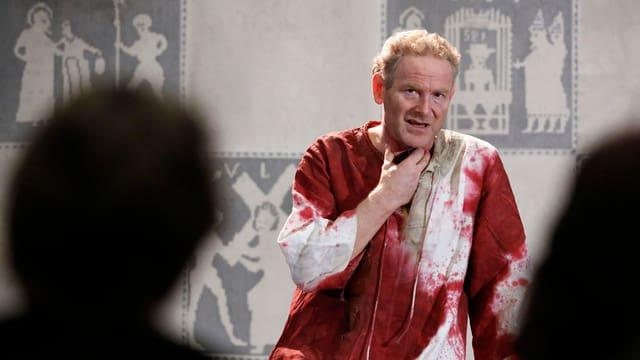 Der Schauspieler Jürg Wisbach als Judas.