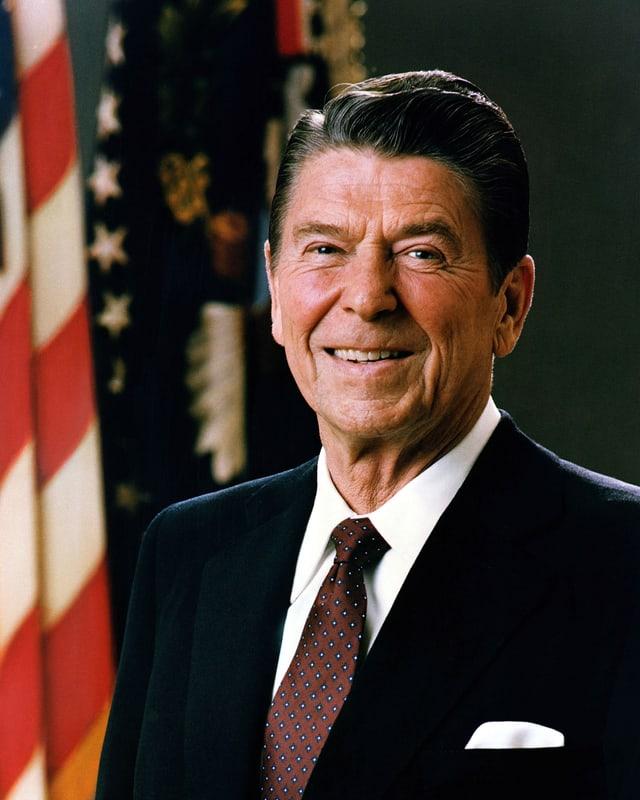 Portrait von Reagan
