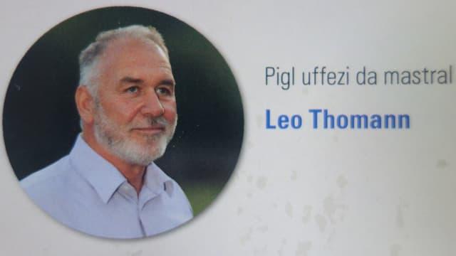 Leo Thomann n'ha nagina concurrenza per il post sco mastral.