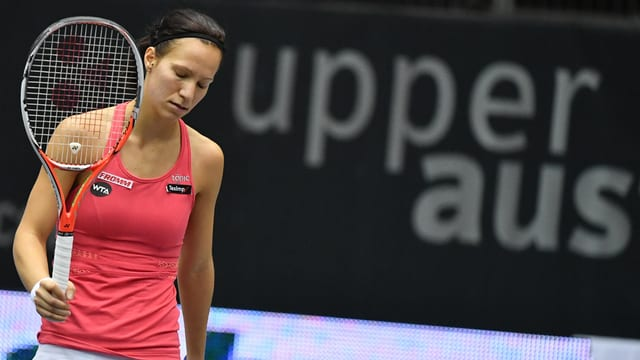 Viktorija Golubic durant la partida da final a Linz.
