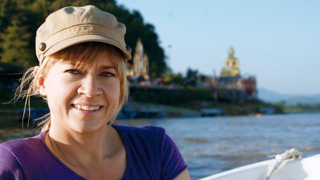 Daniela Lager auf dem Mekong